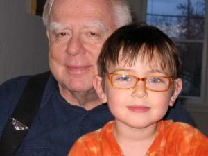 Allan with his grandson Benjamin
